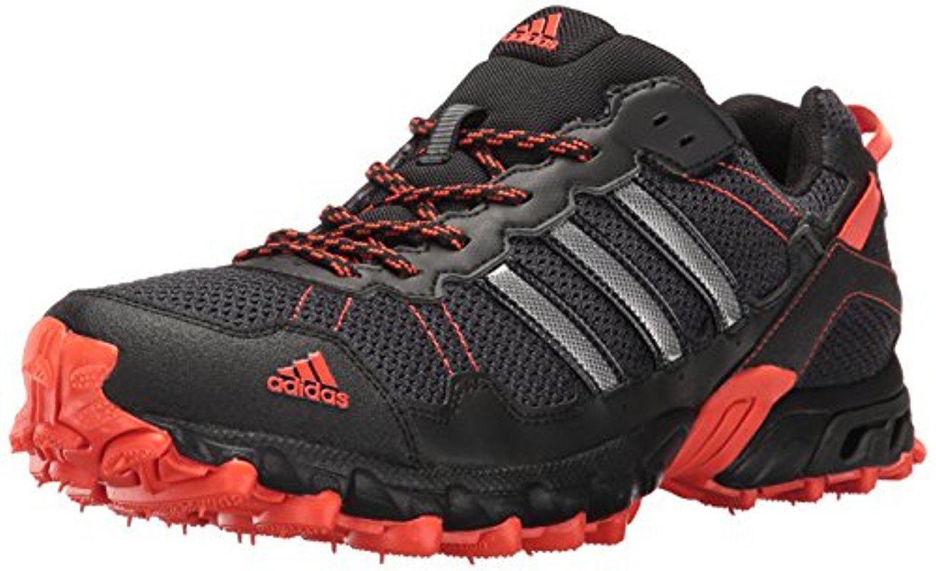 lyst adidas rockadia tracce m scarpa da corsa in nero per gli uomini.