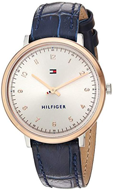 44fada55 Tommy Hilfiger 'sport' Quartz Gold And Leather Casual Watch, Color ...