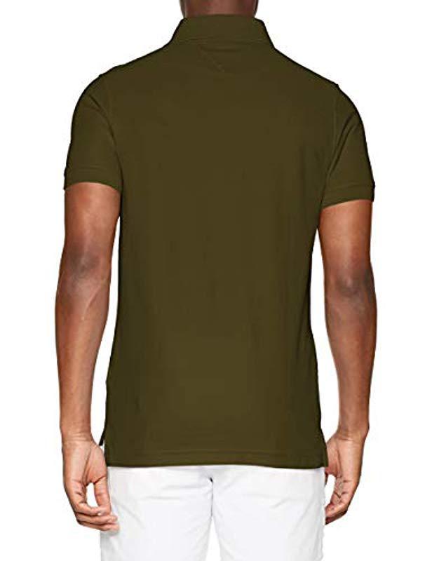 e12dd3dad8f6 Tommy Hilfiger Slim Polo Shirt in Green for Men - Lyst