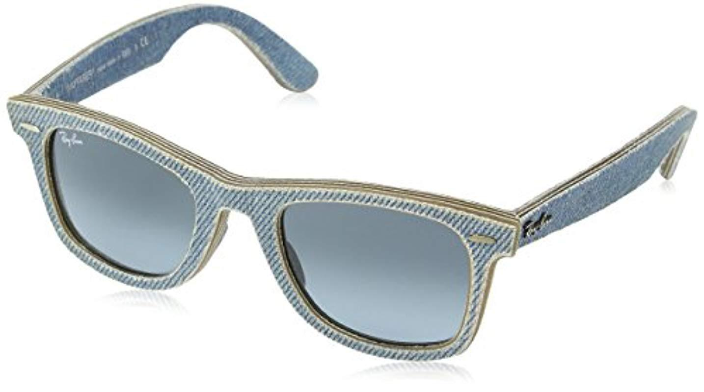 7c9632f817 Ray-Ban Unisex Rb2140 Original Wayfarer Sunglasses 50mm in Blue - Lyst