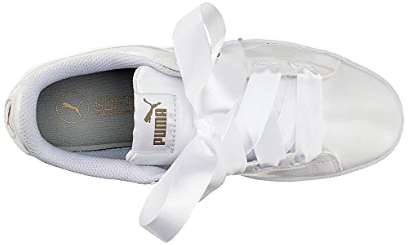 puma vikky platform ribbon p baskets basses femme