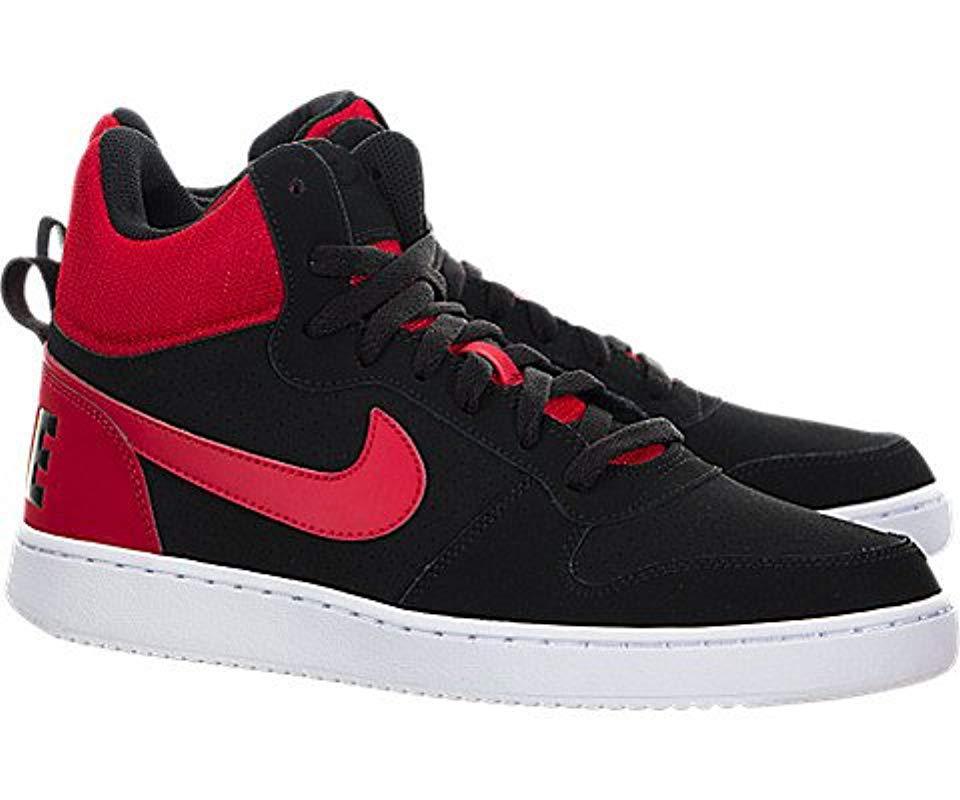 06adb2d84f Nike - Black  s Court Borough Mid Basketball Shoes for Men - Lyst. View  fullscreen