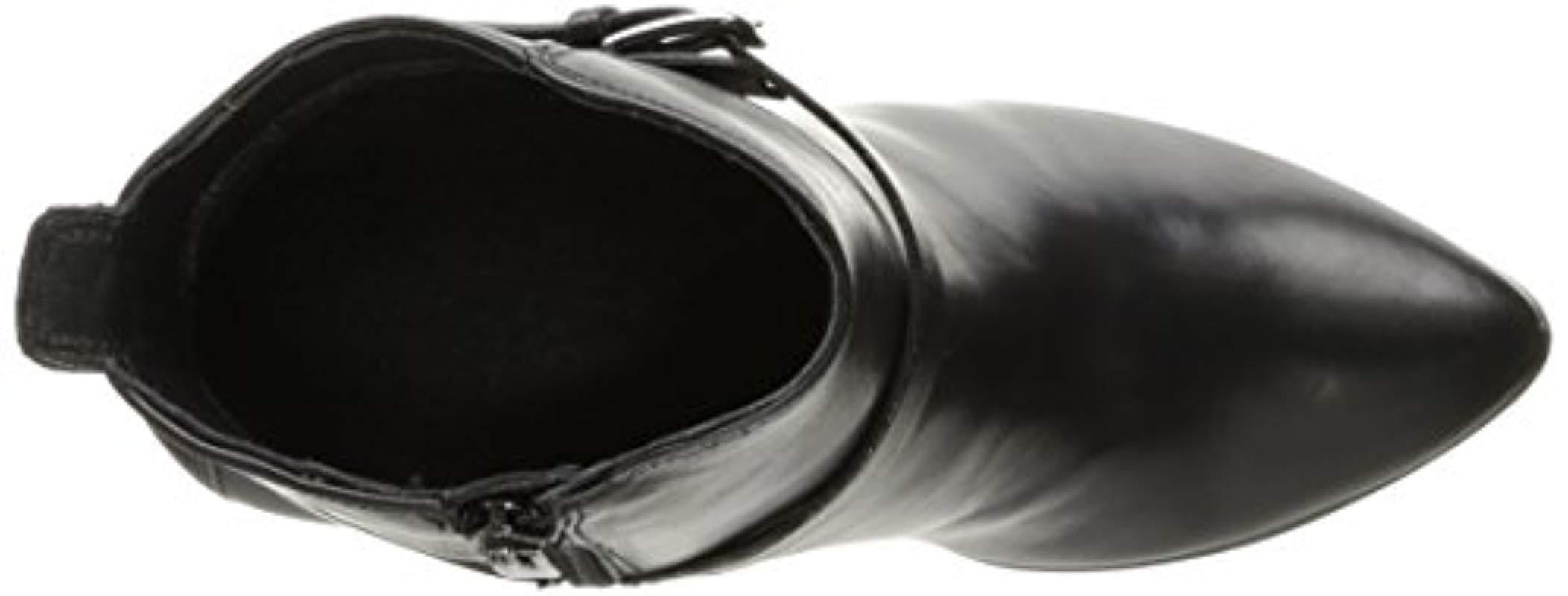 Ecco Leather Shape 75 Pointy Block Boots in Black - Save 45%