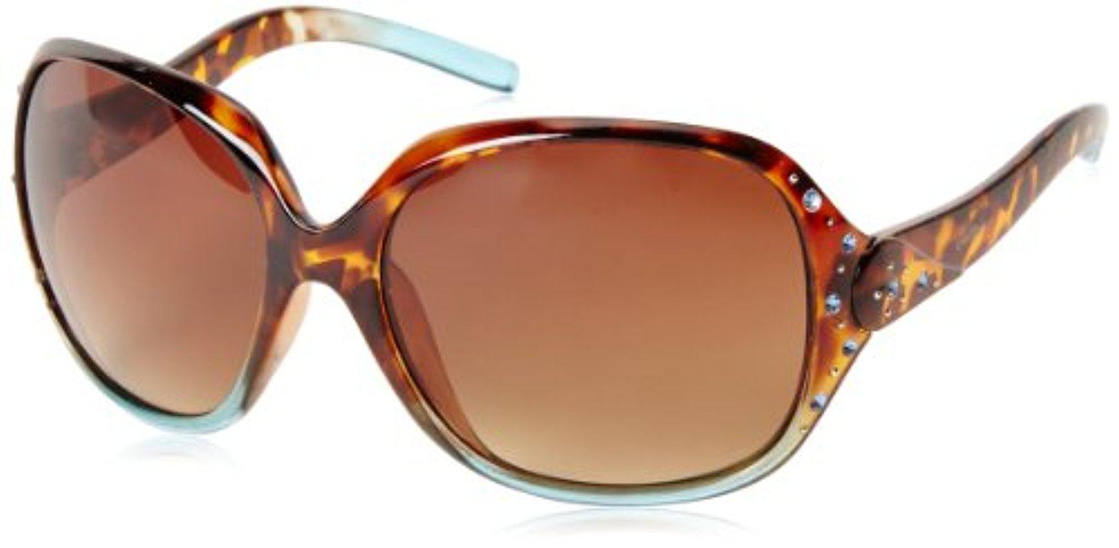 684d9b3bd3 Lyst - Sam Edelman Southpole 182sp Tstq Oval Sunglasses in Brown