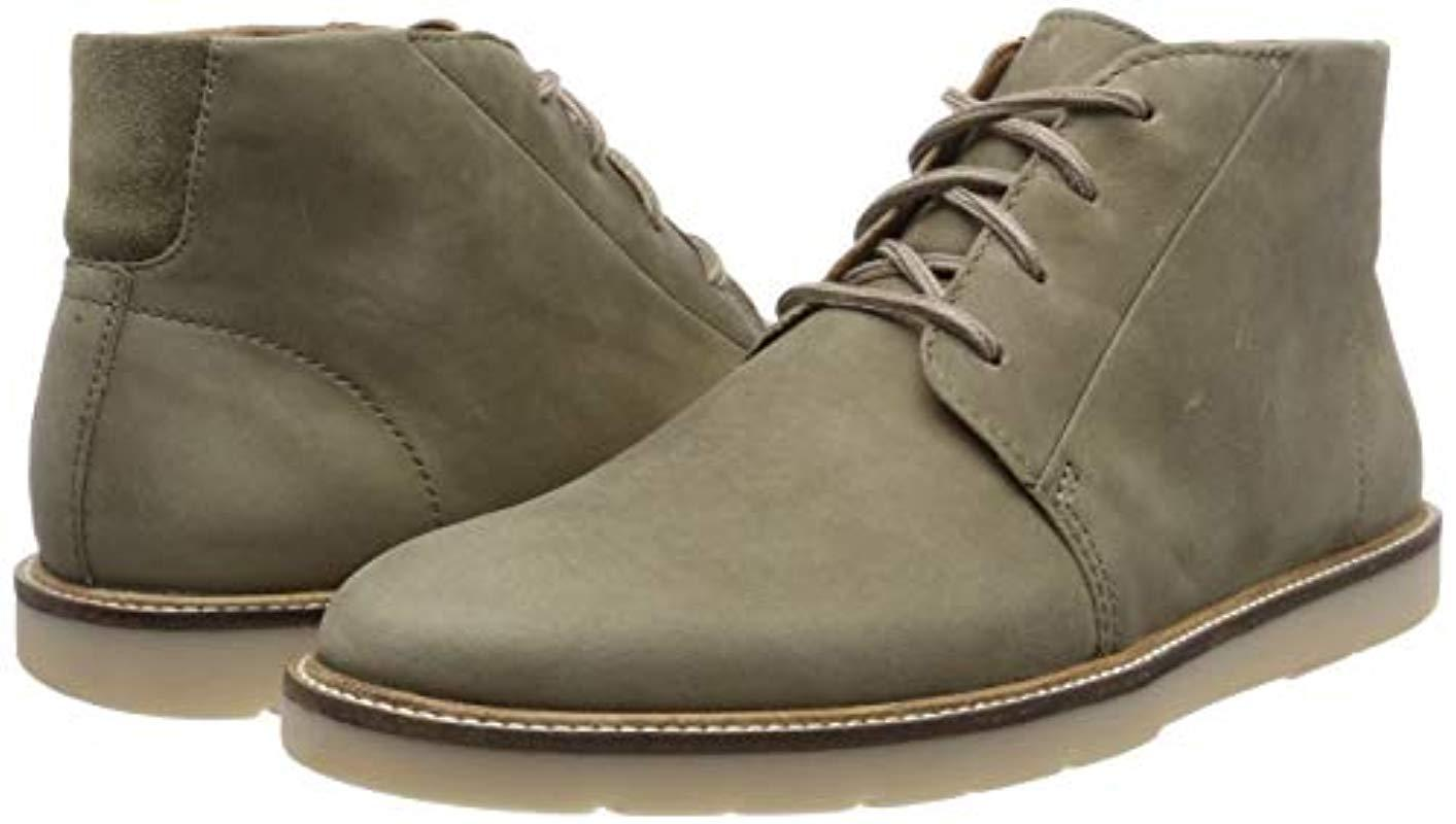 creer Poner Caracterizar  Clarks Leather Grandin Mid in Green Olive Leather (Green) for Men - Lyst