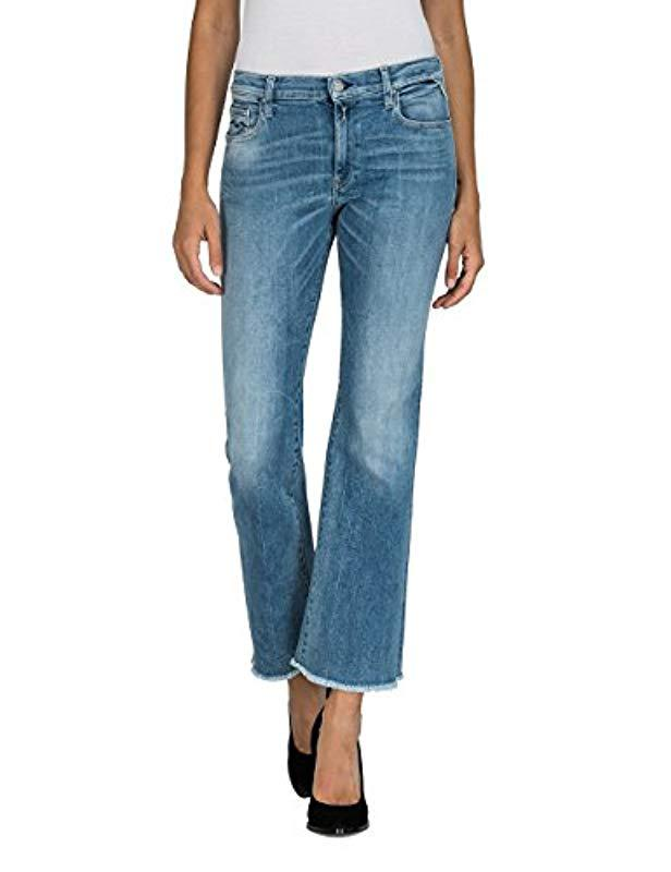 40014c89 Replay Carlida Flared Jeans in Blue - Lyst