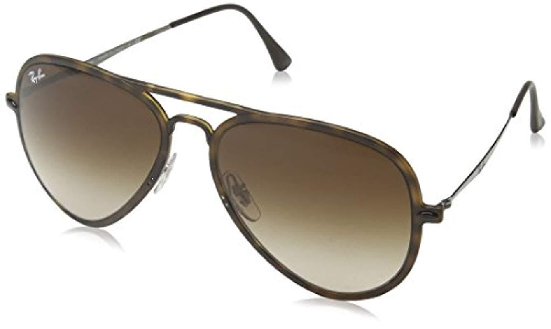 2ce062efdb Ray-Ban Tech Light Ray Aviator Sunglasses In Matte Transparent Green ...