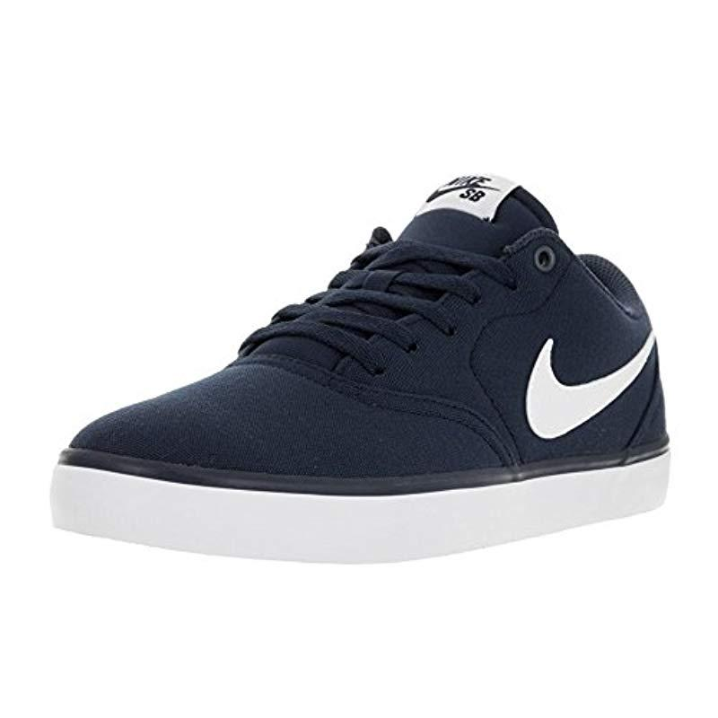 Nike Canvas Sb Check Solar Cnvs Fitness Shoes In Blue For Men Lyst