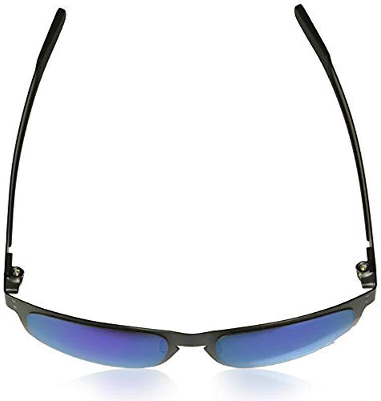 Oakley Holbrook Metal Non-polarized Iridium Square Sunglasses, Gunmetal, 55.0 Mm for Men