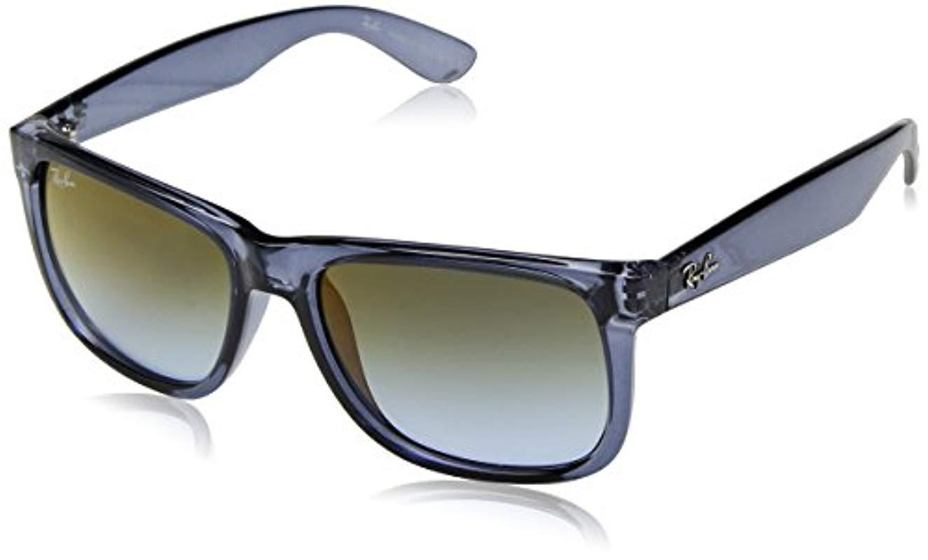 Ray-Ban Justin Sunglasses In Transparent Blue Red Green Gradient ... e31aa39f13b0