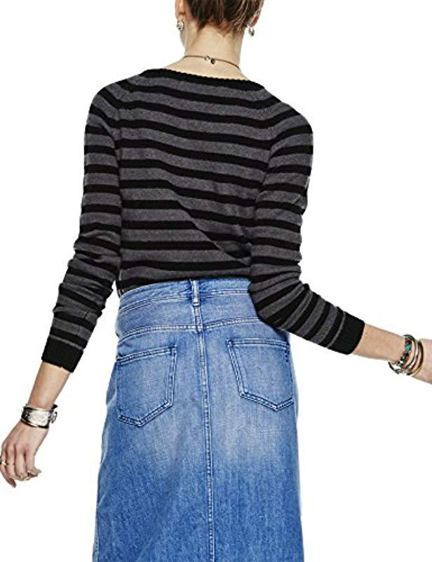 Scotch   Soda Pullover With Buttons At Shoulder. Jumper in Black - Lyst 7b15bcd4dd11