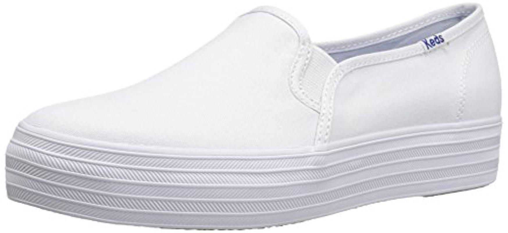 f443e0e34 Lyst - Keds Triple Decker Seasonal Solid Fashion Sneaker in White ...