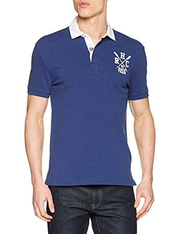 cd204ac8 Hackett Hrc Ujk Cllr Polo Shirt in Blue for Men - Lyst