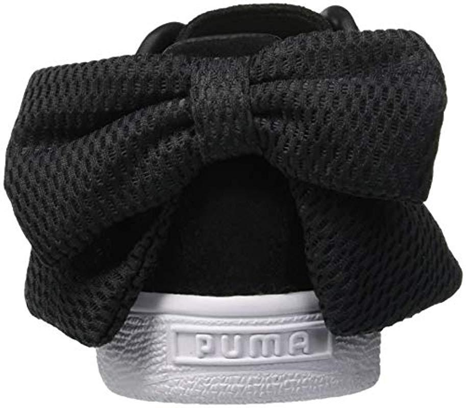 PUMA - Black Suede Bow Uprising Wn s Low-top Sneakers - Lyst. View  fullscreen 29fec7d7a