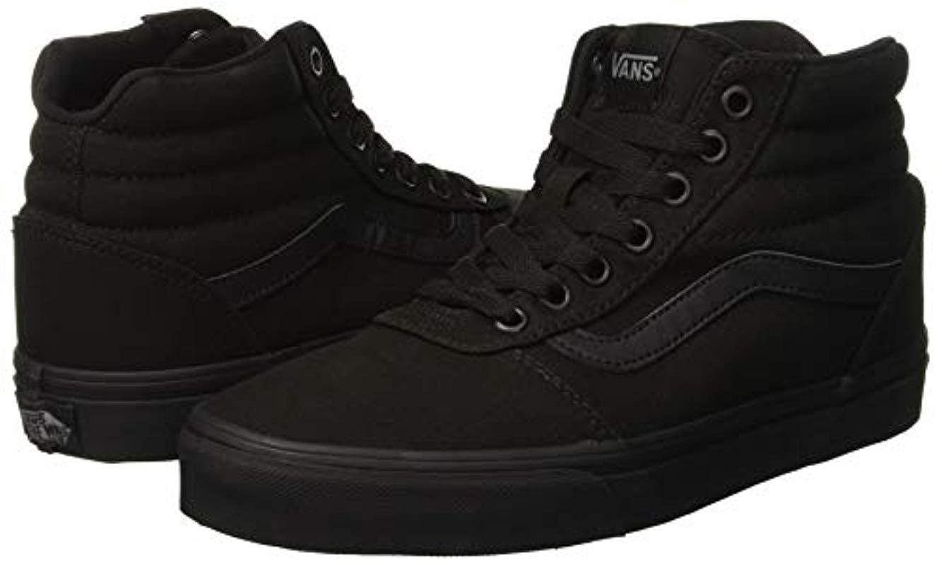Ward Hi Vans de Lona de color Negro