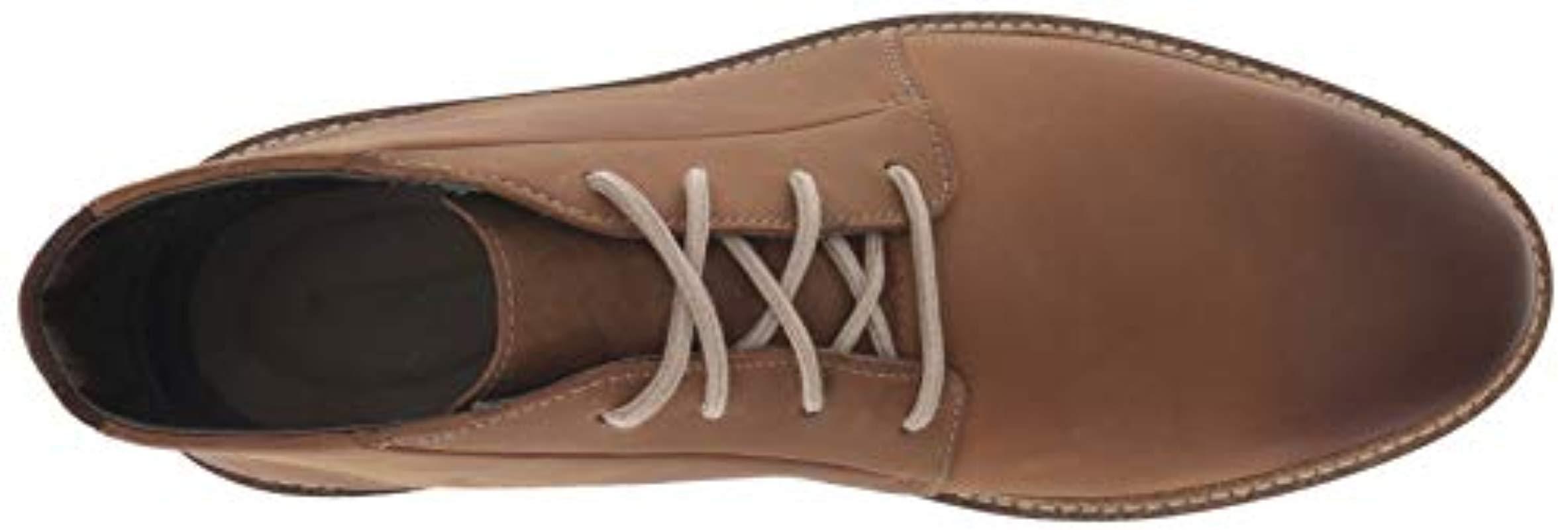 Encommium zapatilla Reportero  Clarks Leather Grandin Mid Boot in Dark Tan Leather (Brown) for Men - Lyst