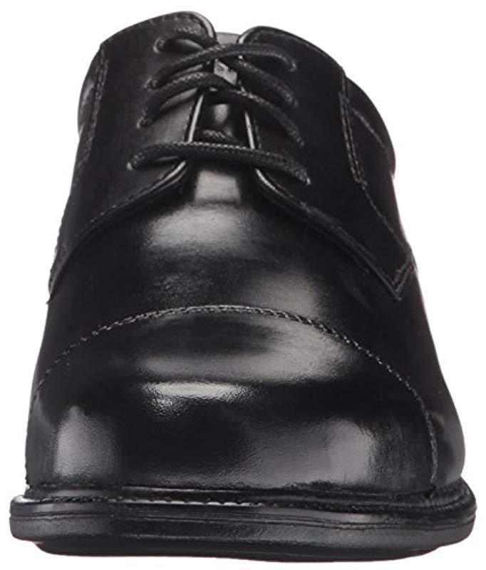 Rockport Denim City Stride Cap Toe Oxford- Black-14 M for Men