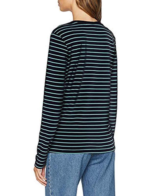Vero Moda Vmally Ls Long Sleeve Top in Blue - Lyst 1b7e8cbc48db