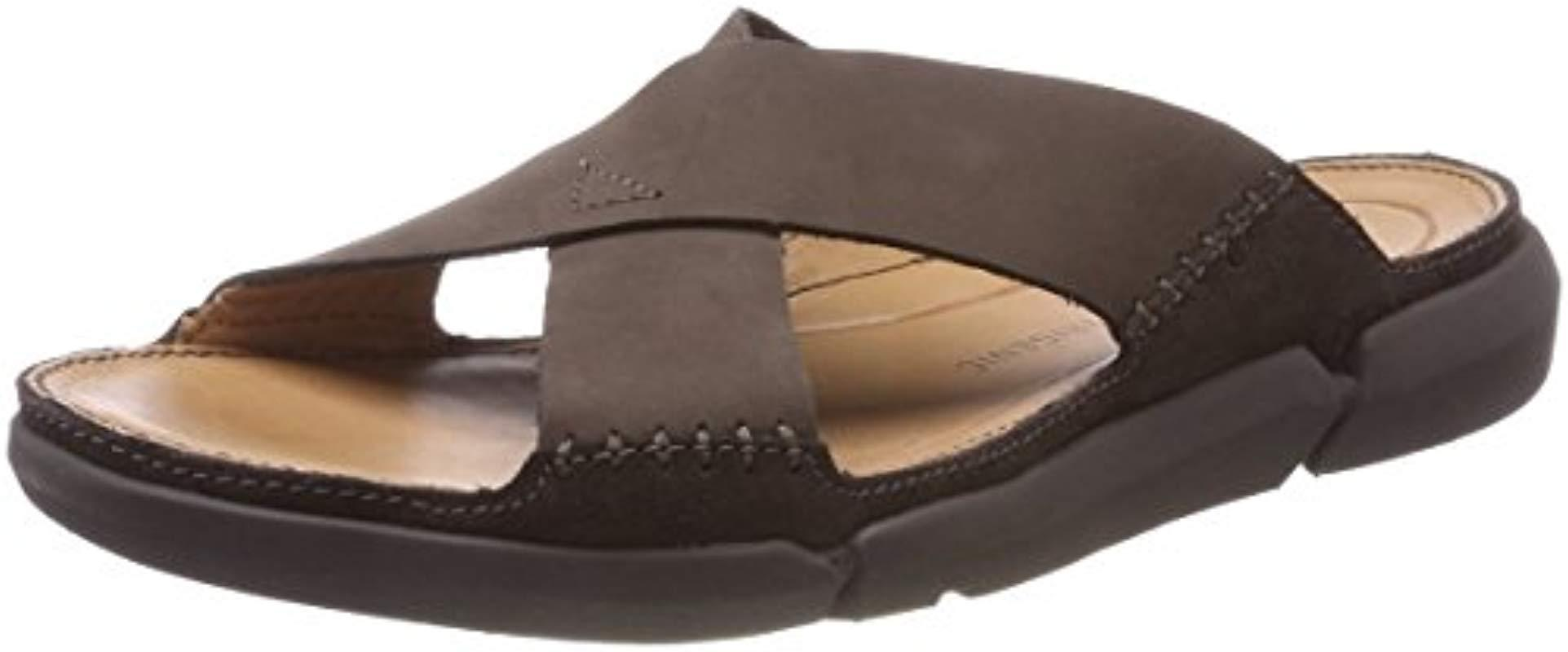 46f332f85bdc Clarks  s Trisand Cross Open Toe Sandals in Brown for Men - Save 9 ...
