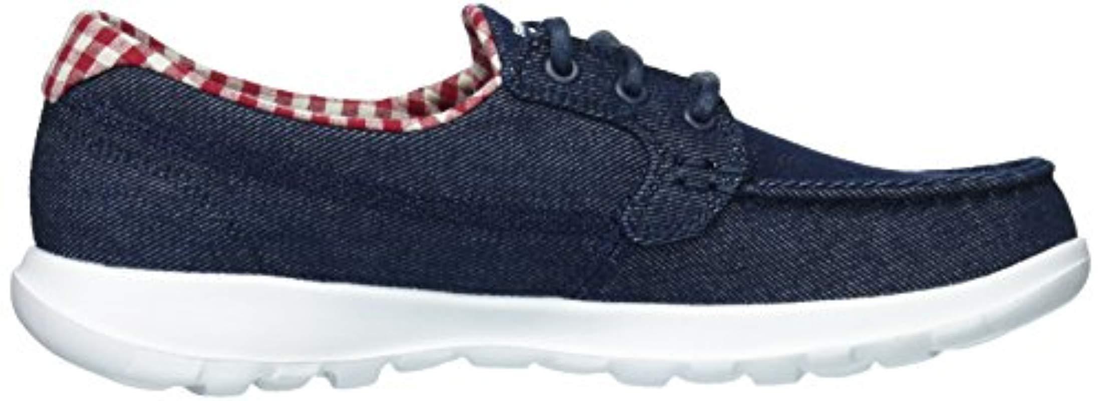 Go Walk Lite Skechers de Denim de color Azul