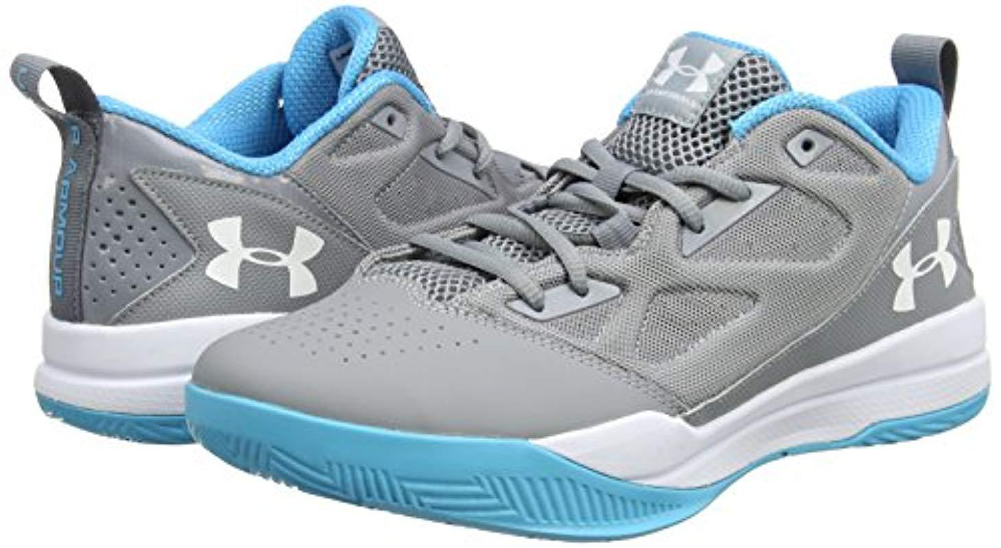 Sicilia radioactividad jurar  Under Armour Ua Jet Low Basketball Shoes in Gray for Men - Lyst
