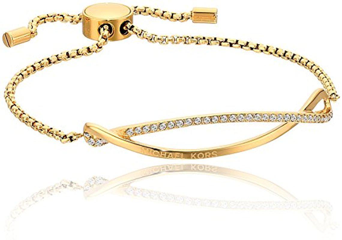 3ab31b32a286 Lyst - Michael Kors Wonder Lust Tone Slider Bracelet in Metallic