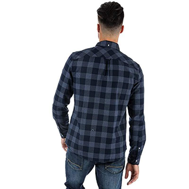1b94c3c596 Timberland - Blue Shirt Ls Back Rv Herrgb Pl for Men - Lyst. View fullscreen