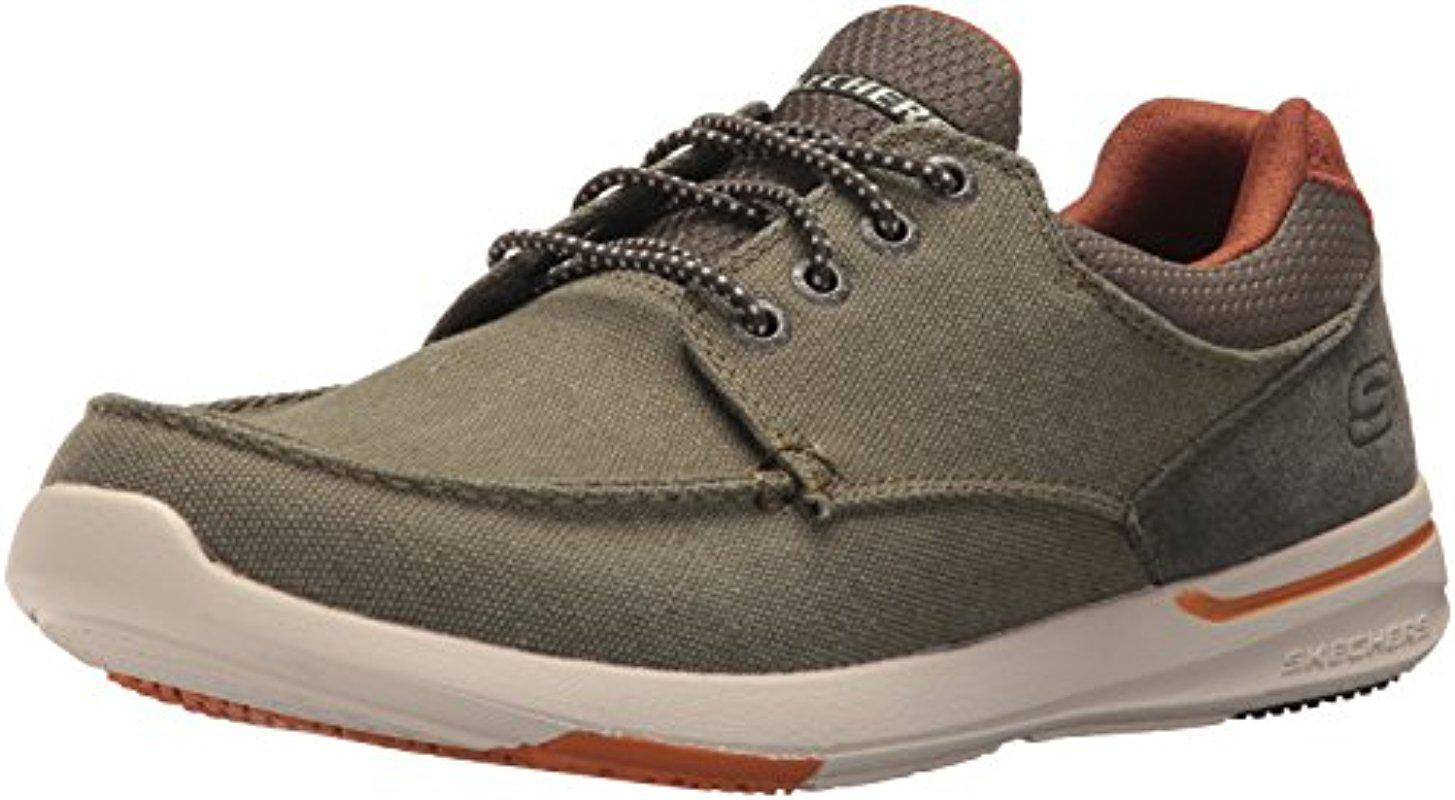 Discounts Cheap Online Cheap Sale Perfect Skechers Relaxed Fit Elent Mosen Boat Shoe(Men's) -Navy Reliable Cheap Online Free Shipping Cheapest 1ExZe