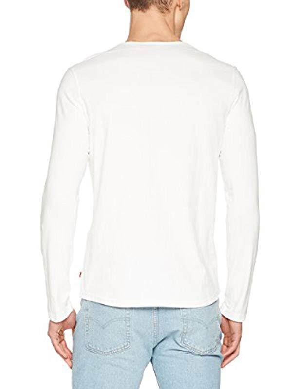 af77146c4b1ba Levi S Ls Classic Henley T-shirt in White for Men - Lyst