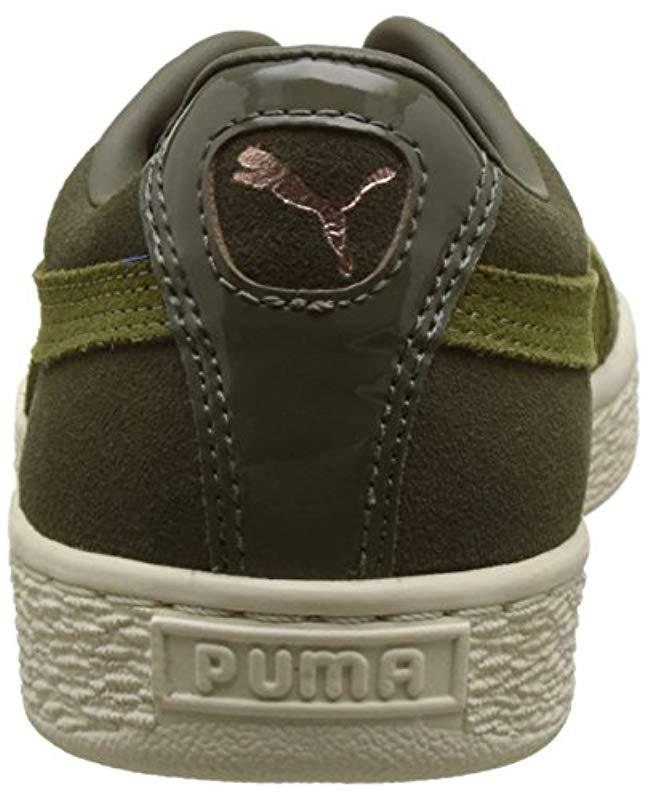 9ebb08959bb2a4 PUMA Suede Xl Lace Vr Trainers Black in Green - Lyst