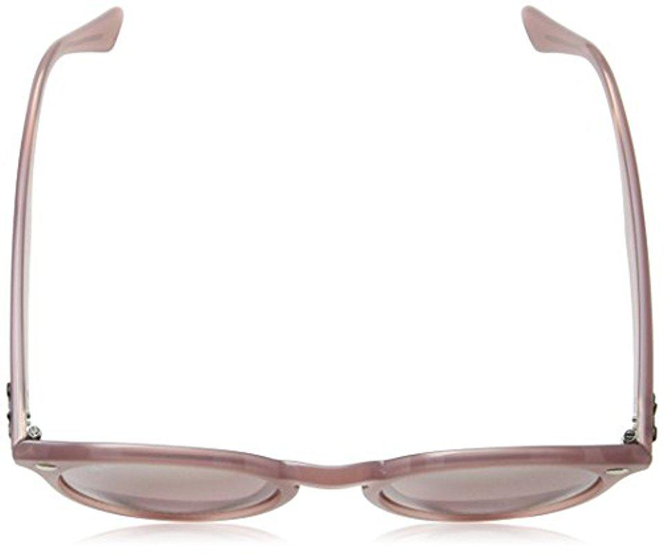 32bfa51adcd Lyst - Ray-Ban Injected Man Sunglass - Opal Antique Pink Frame Pink ...
