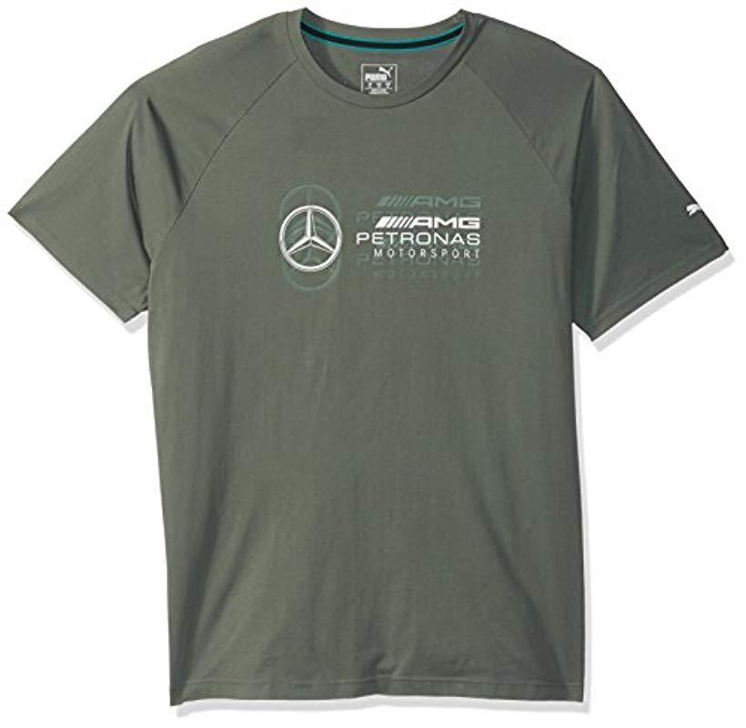 70159bee31804 Lyst - PUMA Mercedes Mapm Logo Tee in Green for Men - Save 6%