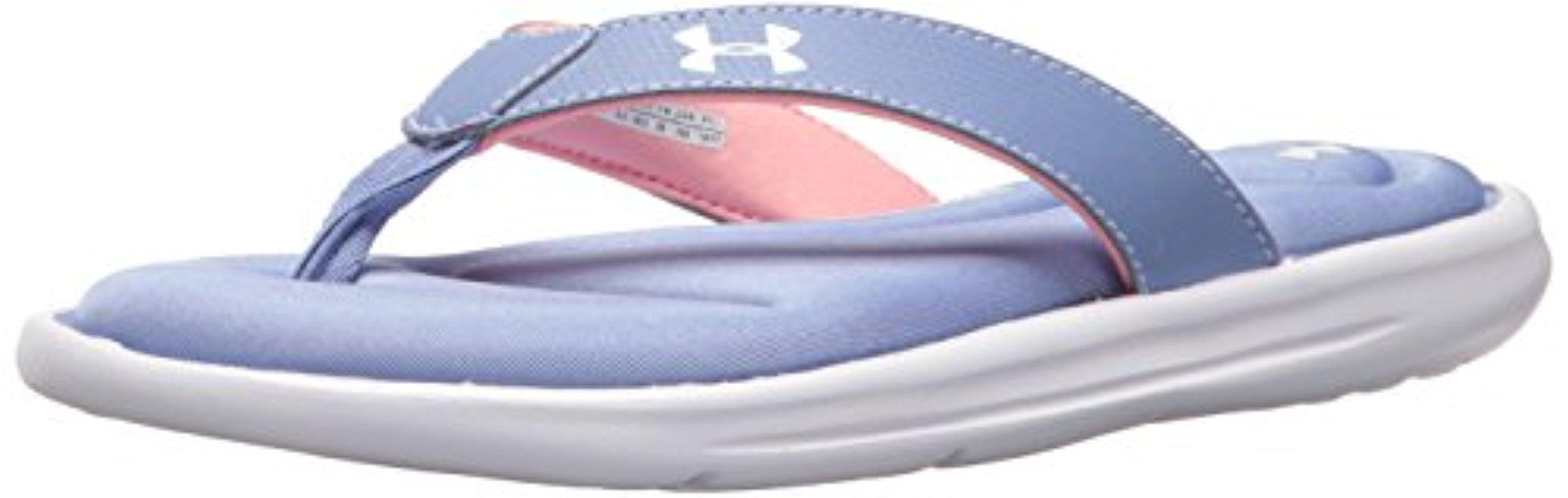reputable site f54d5 dd631 Lyst - Under Armour Marbella Vi Thong Sneaker in Blue