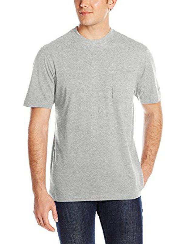 Lyst - Izod Doubler Crew Neck Solid Short Sleeve Tee in Gray for Men