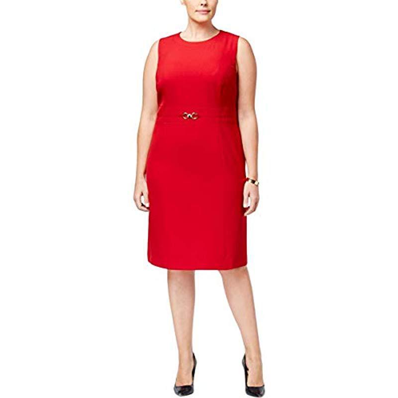 ed7c14e373 Lyst - Kasper Plus Size Stretch Crepe Sheath Dress With Waist ...