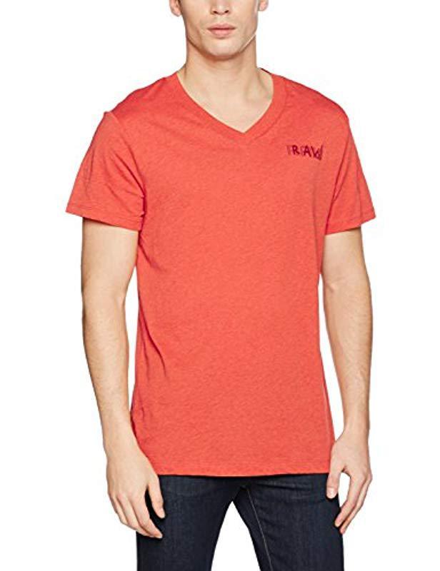 b6438451093 G-Star Raw Borick T-shirt in Orange for Men - Lyst