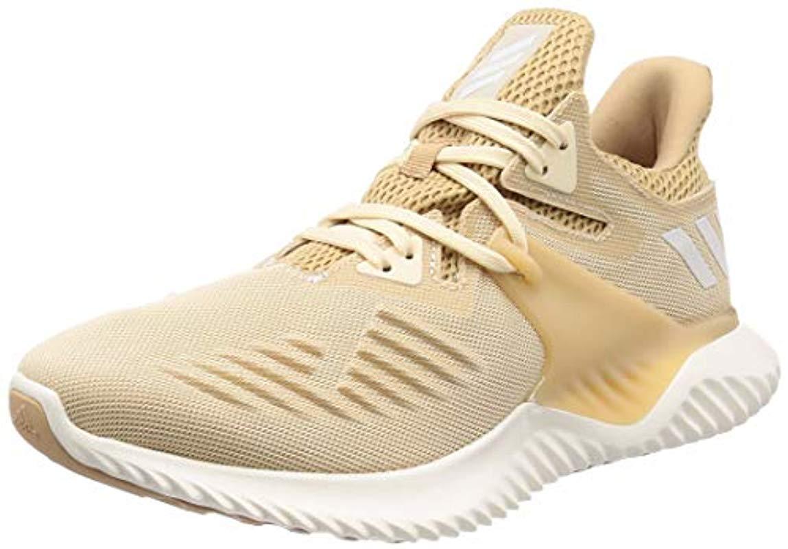best loved e313e e9d87 Adidas beige ecru tint chalk white unisex adults alphabounce beyond running  shoes jpg 1149x800 Adult alphabounce