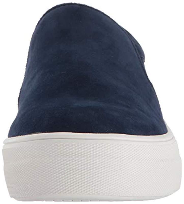 Steve Madden Suede Gills Fashion Sneaker in Navy Suede (Blue)