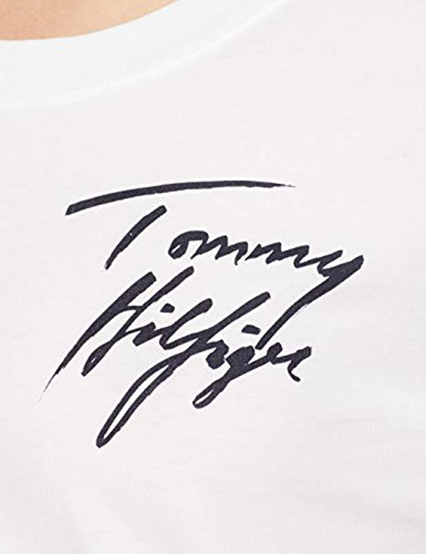 7976974a0 Tommy Hilfiger - White Fifi Round-nk Tee Ss T-shirt - Lyst. View fullscreen