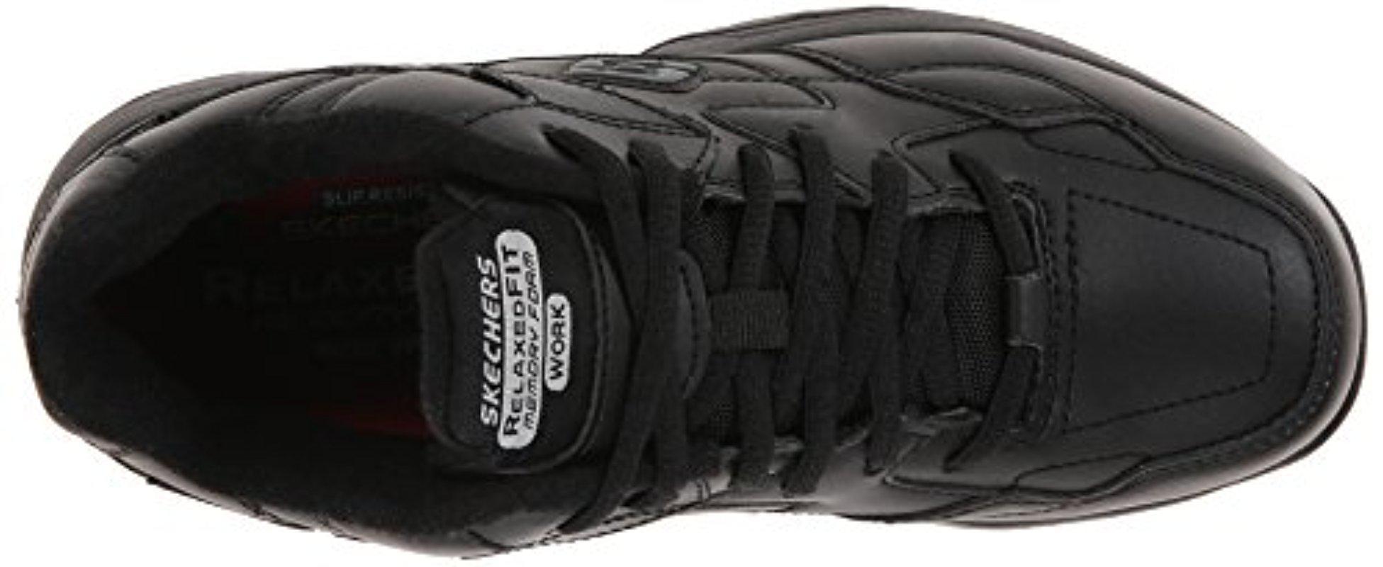 Lyst - Skechers For Work Albie Walking Shoe 2cd7013f3