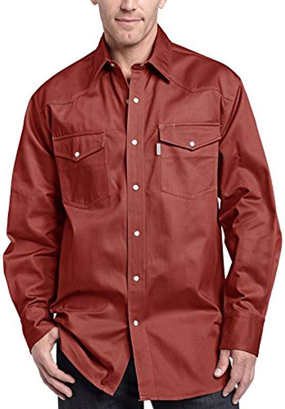 7d312f32576 Lyst - Carhartt Ironwood Twill Work Shirt Snap Front Relaxed Fit ...