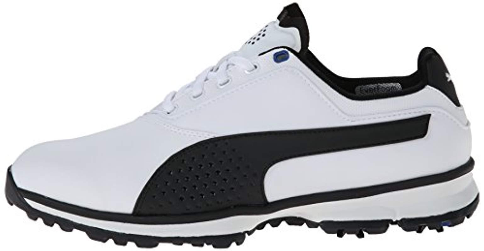 PUMA Titanlite Golf Shoe in White/Black