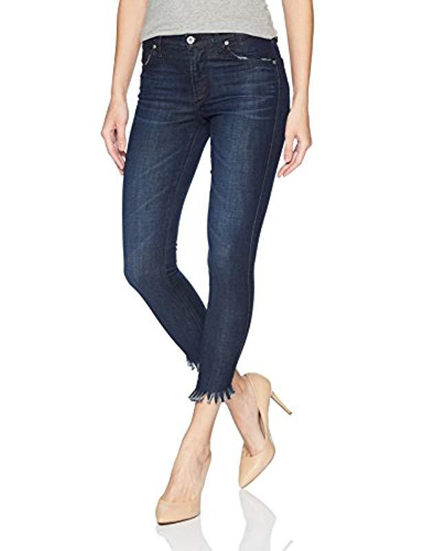 James Jeans Womens Plus Size High Rise Skinny Jean in Siren Fray