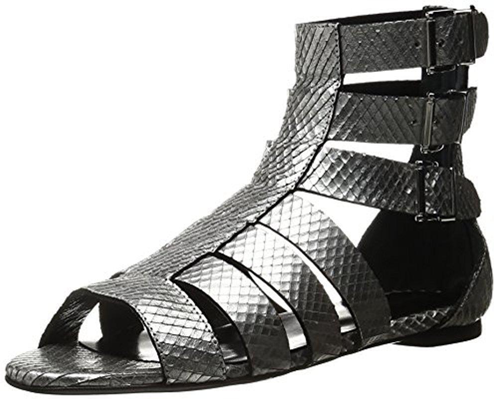 Just Cavalli Python Leather Sandal qkCaDj1tE
