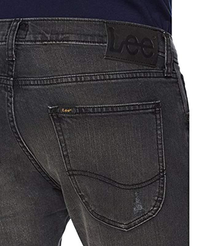 Lee Jeans Denim Luke Tapered Fit Jeans in Schwarz für Herren