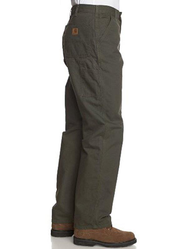 CARHARTT Pantaloni Firm Duck double-Front work Dungaree Brown