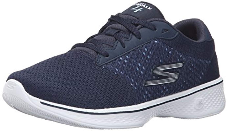 Go Walk 4-Exceed, Zapatillas para Mujer, Azul (NVW), 35 EU Skechers de Tejido sintético de color Azul