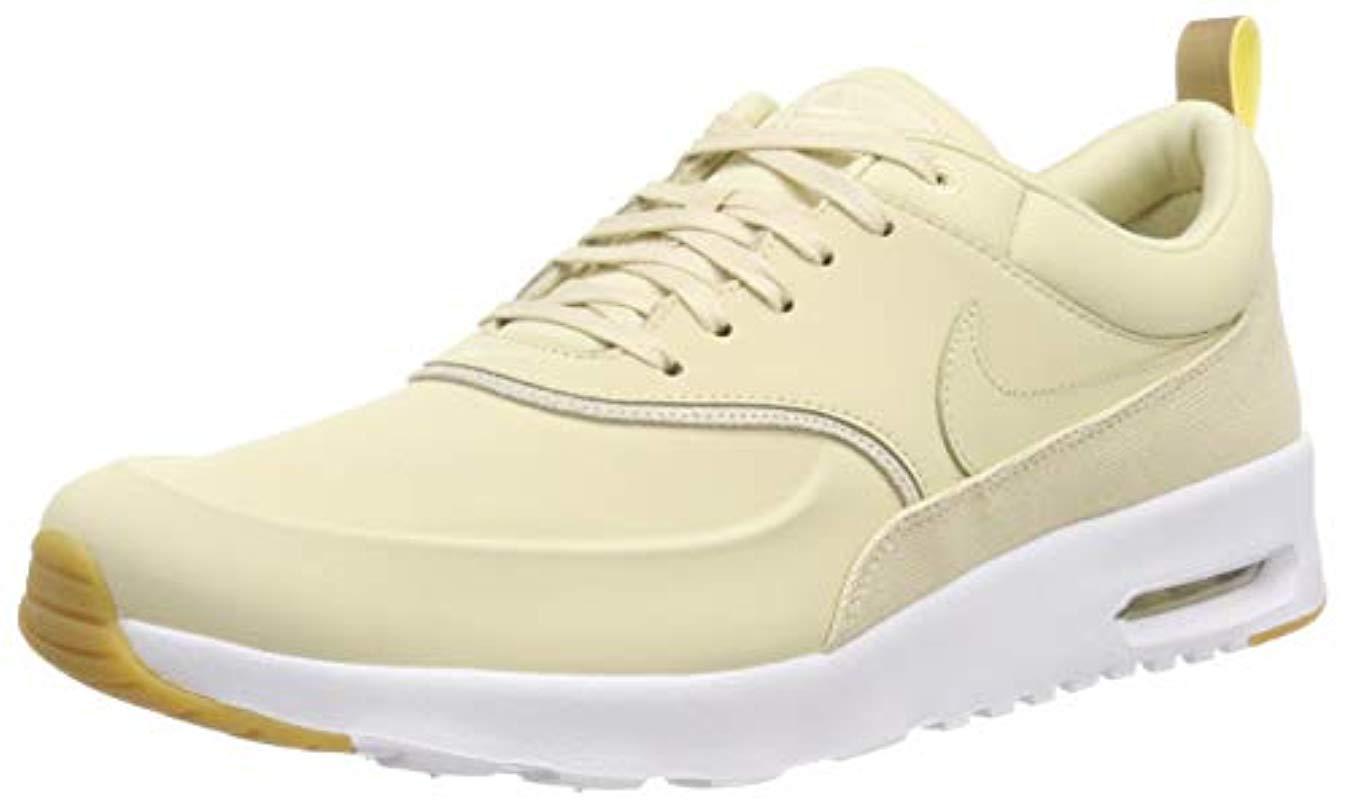 super popular d2bed 3f65d Nike Air Max Thea Prm Low-top Sneakers in Metallic - Lyst