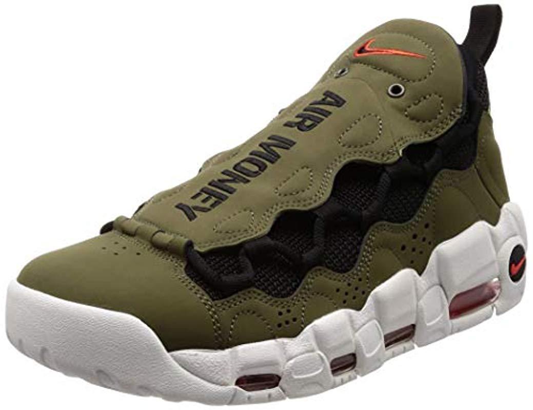 Nike Air More Money Sneaker in Army
