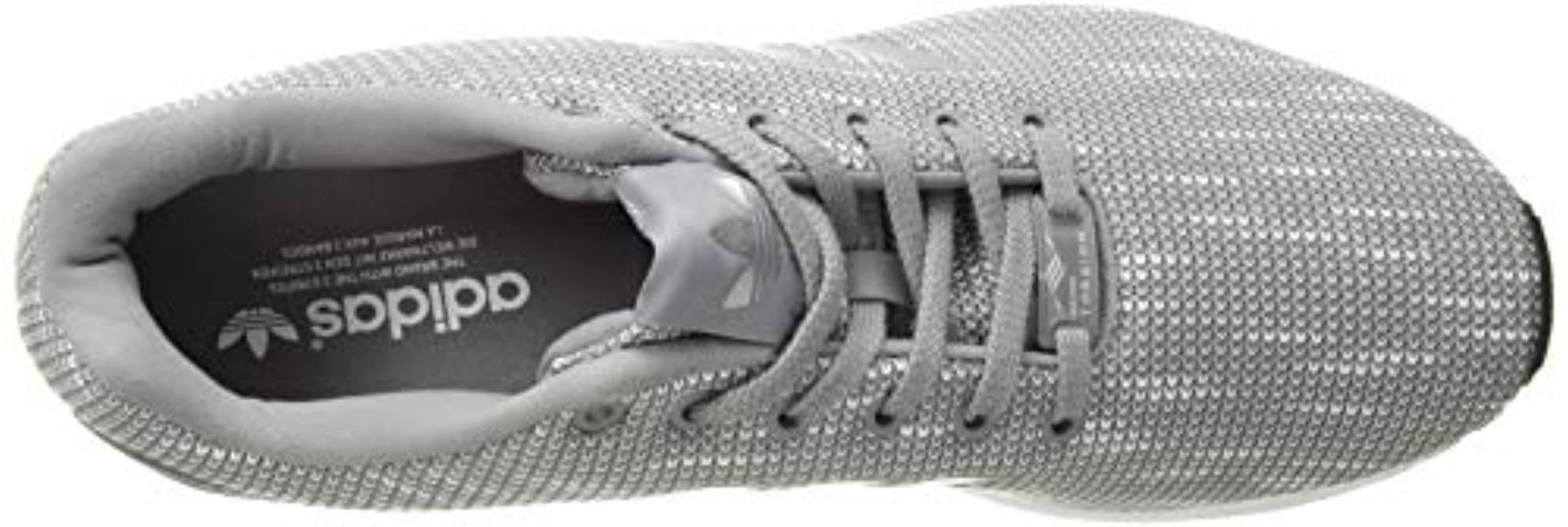 adidas Originals Originals Zx Flux Trainers Aluminum/white in Grey/Grey/White (Grey)